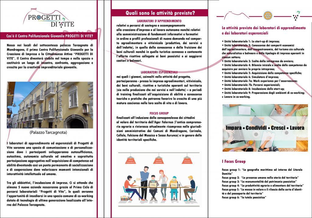 Progetti di vite - brochure 2 di 2