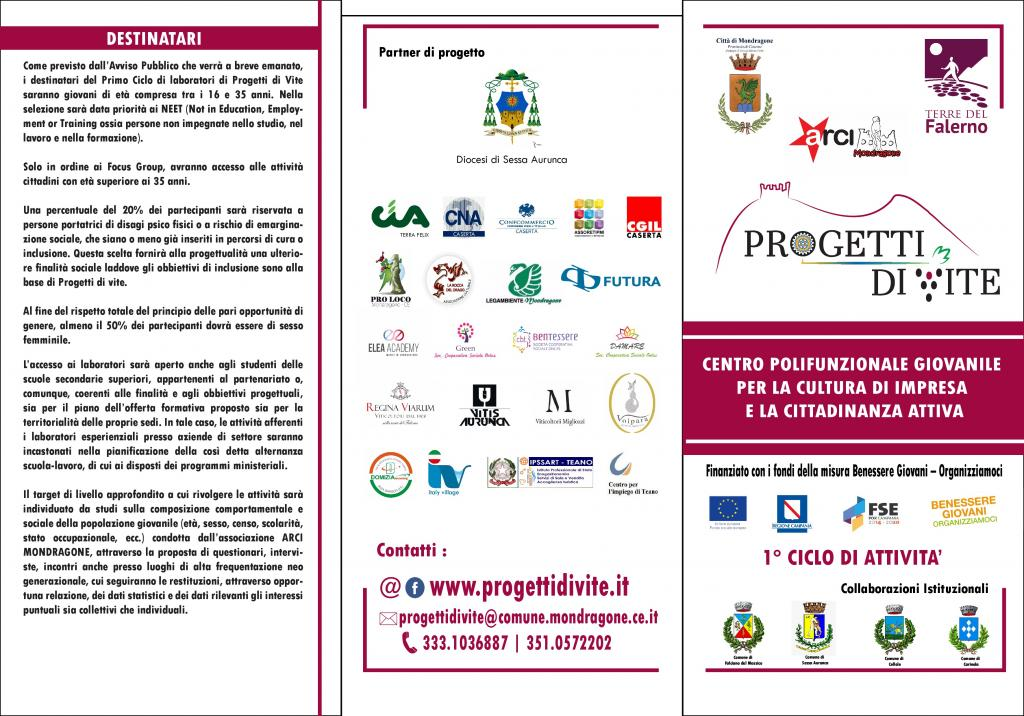 Progetti di vite - brochure 1 di 2