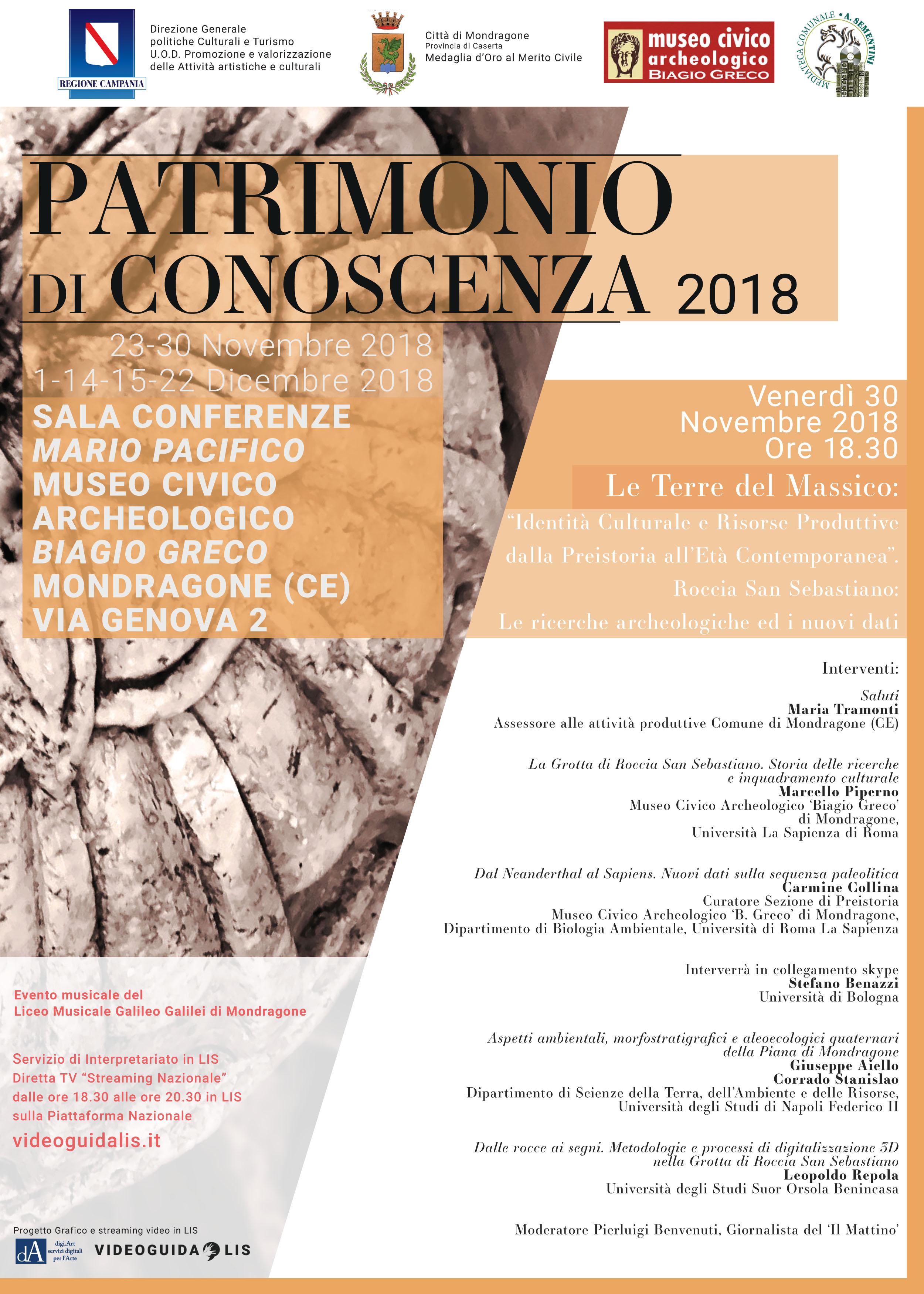 Patrimonio di Conoscenza 2018 locandina 2