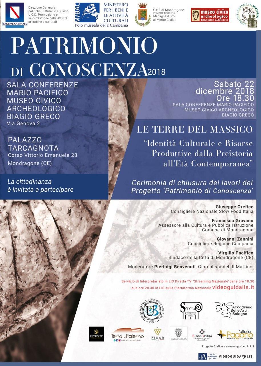 Patrimonio di Conoscenza 2018 locandina conclusione