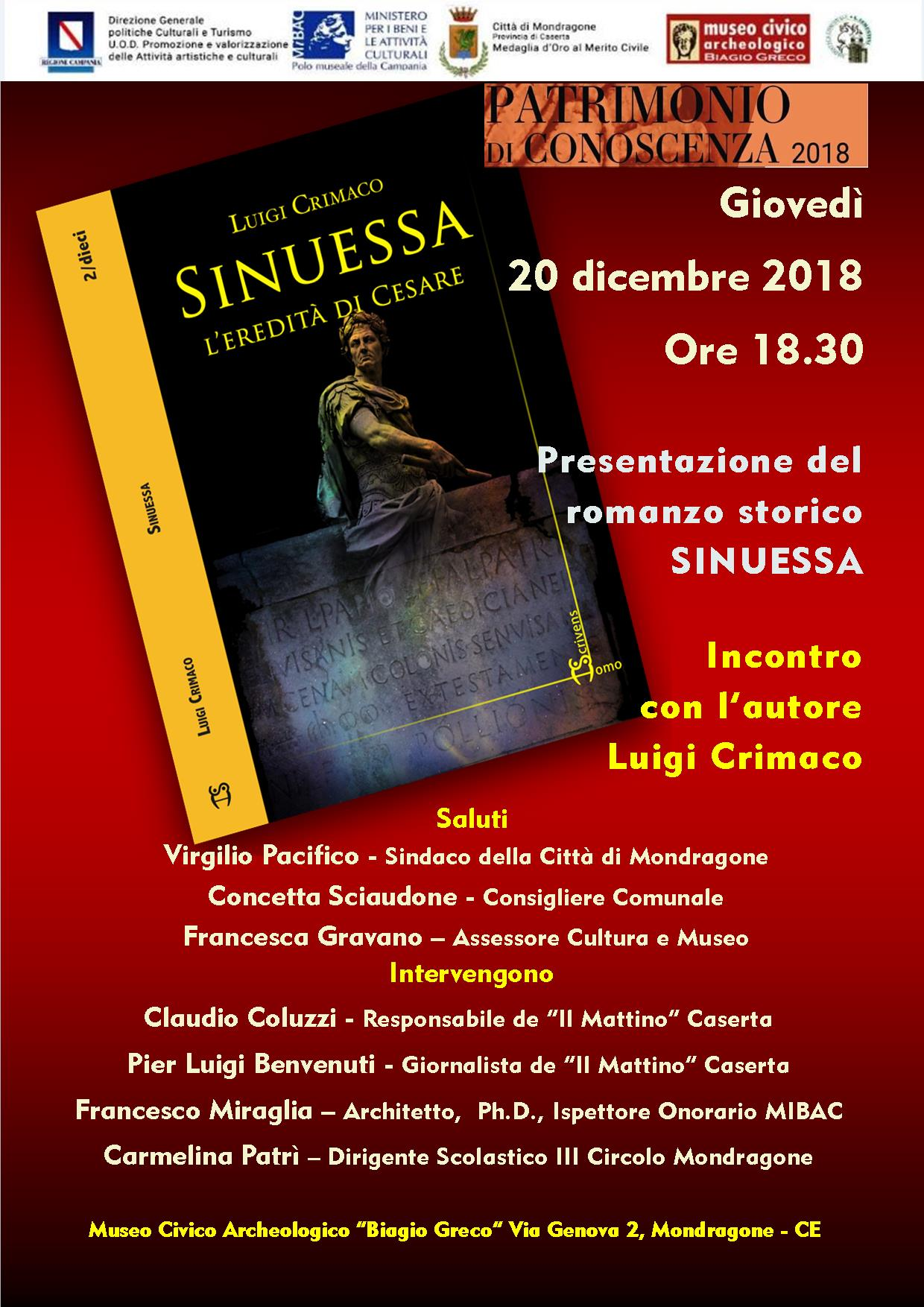 Libro Crimaco - Sinuessa - l'eredità di Cesare